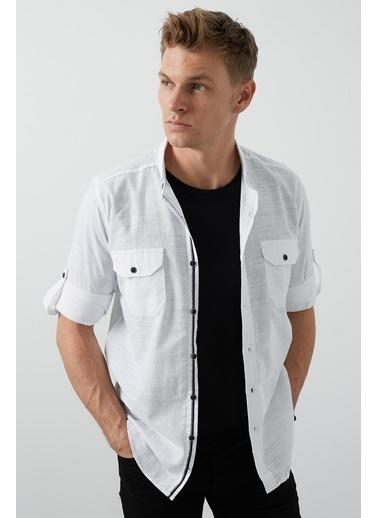 Buratti Buratti Cepli Erkek Gömlek CF20S111241 Beyaz